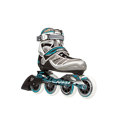 Rollerblade Tempest 90 C Womens Inline Skates 2016, Silver-Light Blue, viewer