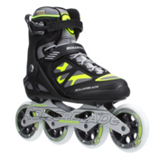 Rollerblade Macroblade 100 Inline Skates, Black-Yellow, medium