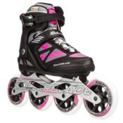 Rollerblade Macroblade 100 Womens Inline Skates, Black-Pink, medium