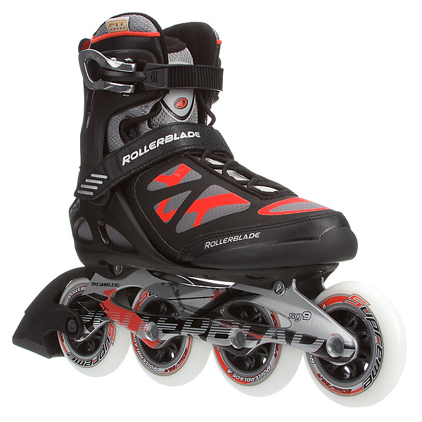 Rollerblade Macroblade 90 Inline Skates, Black-Red, 600