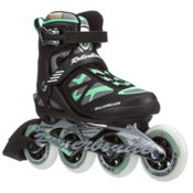 Rollerblade Macroblade 90 Womens Inline Skates 2016, Black-Green, medium