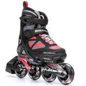 Rollerblade Spitfire LX ALU Adjustable Kids Inline Skates 2016, Black-Red, medium