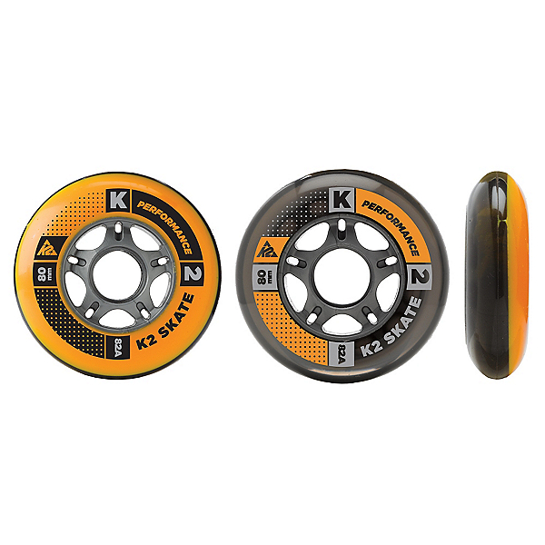 K2 84mm-80mm HiLo Inline Skate Wheels with ILQ9 Bearings - 8pack, , 600