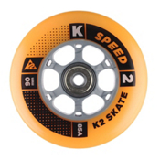 K2 90mm Inline Skate Wheels with ILQ9 Alum Spacer Bearings - 8pack 2016, , medium