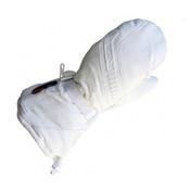 Mobile Warming Gear Battery LTD Max Heated Ski Mittens, White, medium