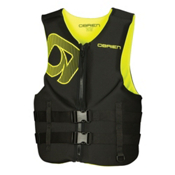 O'Brien Traditional Neoprene Adult Life Vest 2016, Black-Yellow, medium
