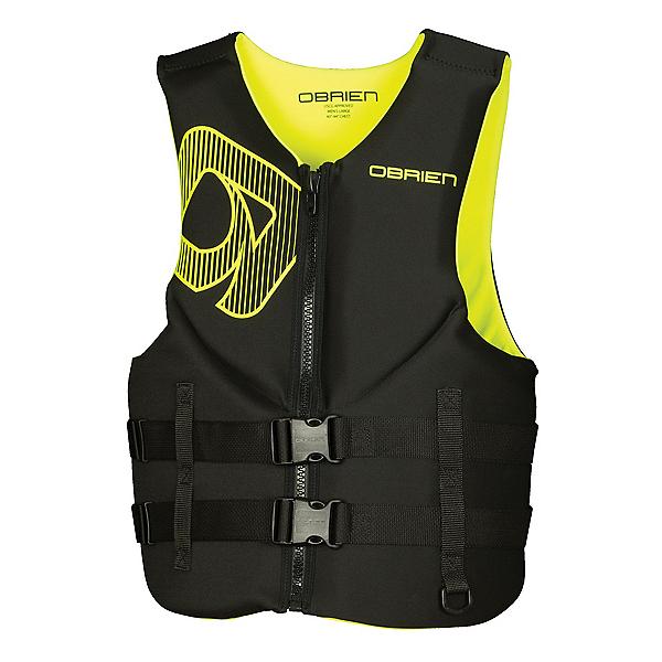 O'Brien Traditional Neoprene Adult Life Vest 2017, Black-Yellow, 600