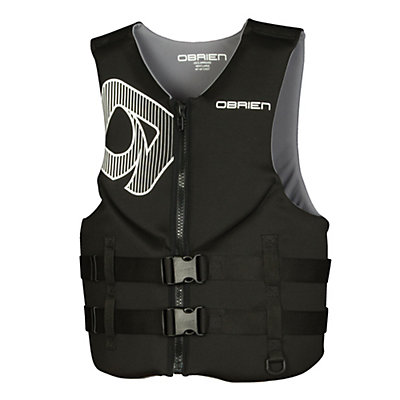 O'Brien Traditional Neoprene Adult Life Vest 2017, Black-Yellow, viewer