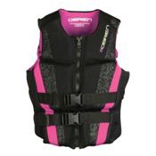 O'Brien Flex V-Back Neoprene Womens Life Vest 2016, Black-Pink, medium