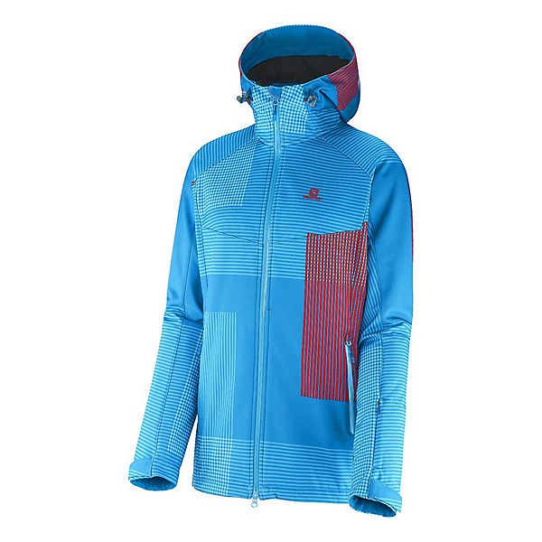Salomon Snowtrip Premium Womens Insulated Ski Jacket, Methyl Blue-Methyl Blue, 600