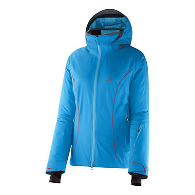 Salomon Whitemount GTX MF Womens Insulated Ski Jacket, Methyl Blue, viewer