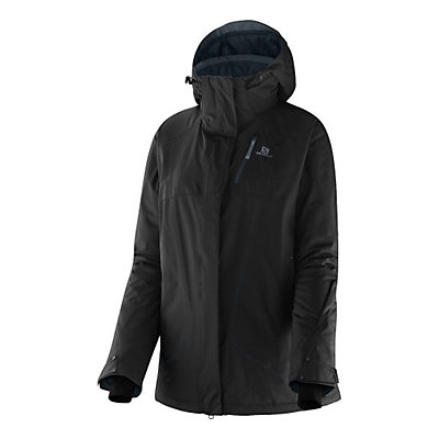 Salomon Zero Womens Insulated Ski Jacket, Black, viewer