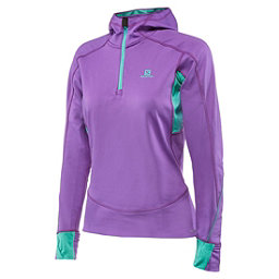 Salomon Swift II Womens Mid Layer, Little Violette-Cascade Green, 256