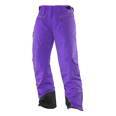 Salomon Zero Womens Ski Pants, Little Violette, viewer
