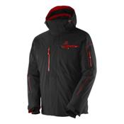 Salomon Brilliant Mens Insulated Ski Jacket, Black-Matador X, medium
