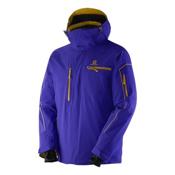 Salomon Brilliant Mens Insulated Ski Jacket, Spectrum Blue, medium