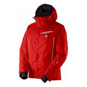 Salomon Open Mens Insulated Ski Jacket, Matador X-White, medium