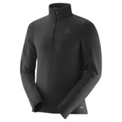 Salomon Minim Half Zip Mens Mid Layer, Black, medium