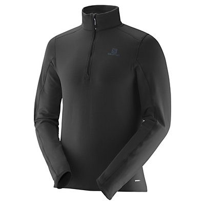 Salomon Minim Half Zip Mens Mid Layer, Black, viewer