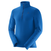 Salomon Minim Half Zip Mens Mid Layer, Union Blue, medium