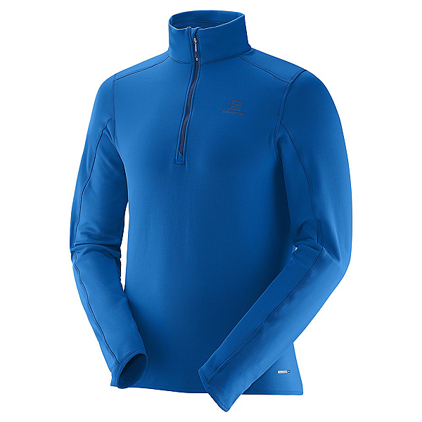 Salomon Minim Half Zip Mens Mid Layer, Union Blue, 600