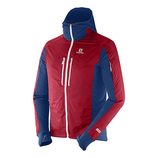 Salomon SoulQuest BC Mens Jacket, Victory Red-Midnight Blue, 600
