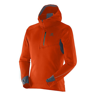 Salomon Swift II Mens Mid Layer, Orange Glow-Dark Cloud, viewer