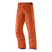 Salomon Fantasy Mens Ski Pants, Orange Glow, medium