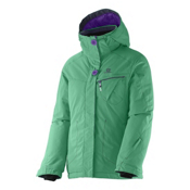 Salomon Snowink Girls Ski Jacket, Cascade Green, medium