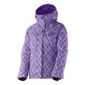 Salomon Snowink Girls Ski Jacket, Little Violette-Cascade Green-, medium