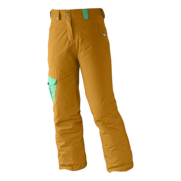 Salomon Sashay Girls Ski Pants, Yellowstone-Cascade Green, 600