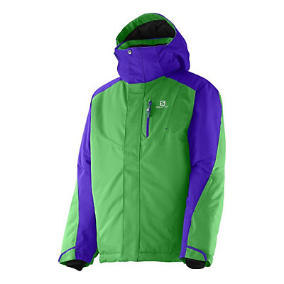 Salomon Incline Boys Ski Jacket, Bud Green-Spectrum Blue, viewer