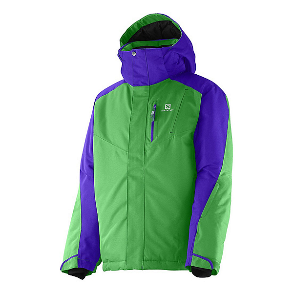 Salomon Incline Boys Ski Jacket, Bud Green-Spectrum Blue, 600