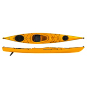 Venture Kayaks Islay 14 LV Light Touring Kayak 2015, Yellow, medium