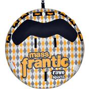Rave Mass Frantic Towable Tube 2015, Grey-Yellow, medium