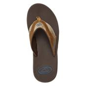 Reef Fanning TX Mens Flip Flops, Dark Brown-Gum, medium