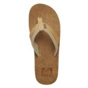 Reef Jones Mens Flip Flops, Tan, medium