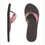 Reef We Heart Scrunch Womens Flip Flops, Brown-Pink2, medium