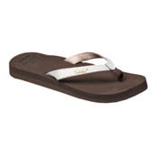 Reef Star Cushion Sassy Womens Flip Flops, Brown-White, medium