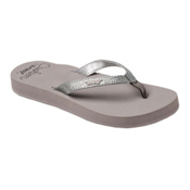 Reef Star Cushion Sassy Womens Flip Flops, Gunmetal, medium