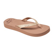 Reef Star Cushion Sassy Womens Flip Flops, Mocha, medium
