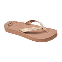 Reef Star Cushion Sassy Womens Flip Flops, Mocha, 256