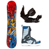 Black Fire Techno and Boa Kids Complete Snowboard Package, , medium