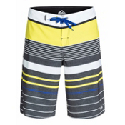 Quiksilver YG Stripe Board Shorts, Sulphur Spring Stripe, medium