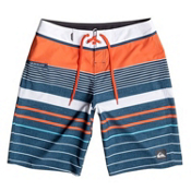 Quiksilver YG Stripe Board Shorts, Mandarin Red Stripe, medium