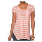 Prana Skylar Womens T-Shirt, Glowing Coral, medium