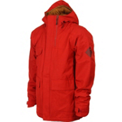 Bonfire Arc Mens Insulated Snowboard Jacket, Red Rum X, medium