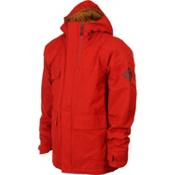 Bonfire Arc Mens Insulated Snowboard Jacket, Red Rum X, medium