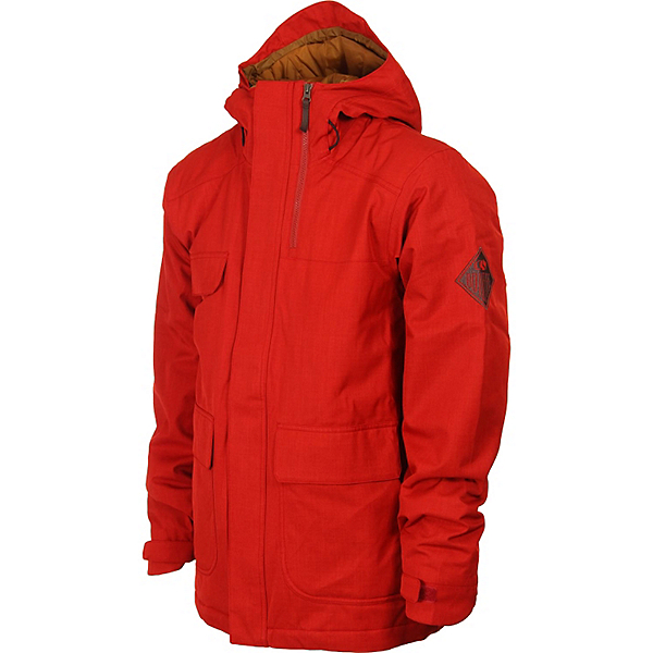 Bonfire Arc Mens Insulated Snowboard Jacket, Red Rum X, 600