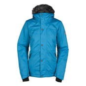 Bonfire Safari Womens Insulated Snowboard Jacket, Pool, medium